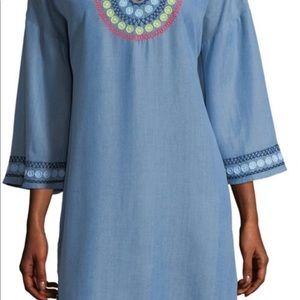 Tommy Bahamas Embroidered Tunic Coverup Dress